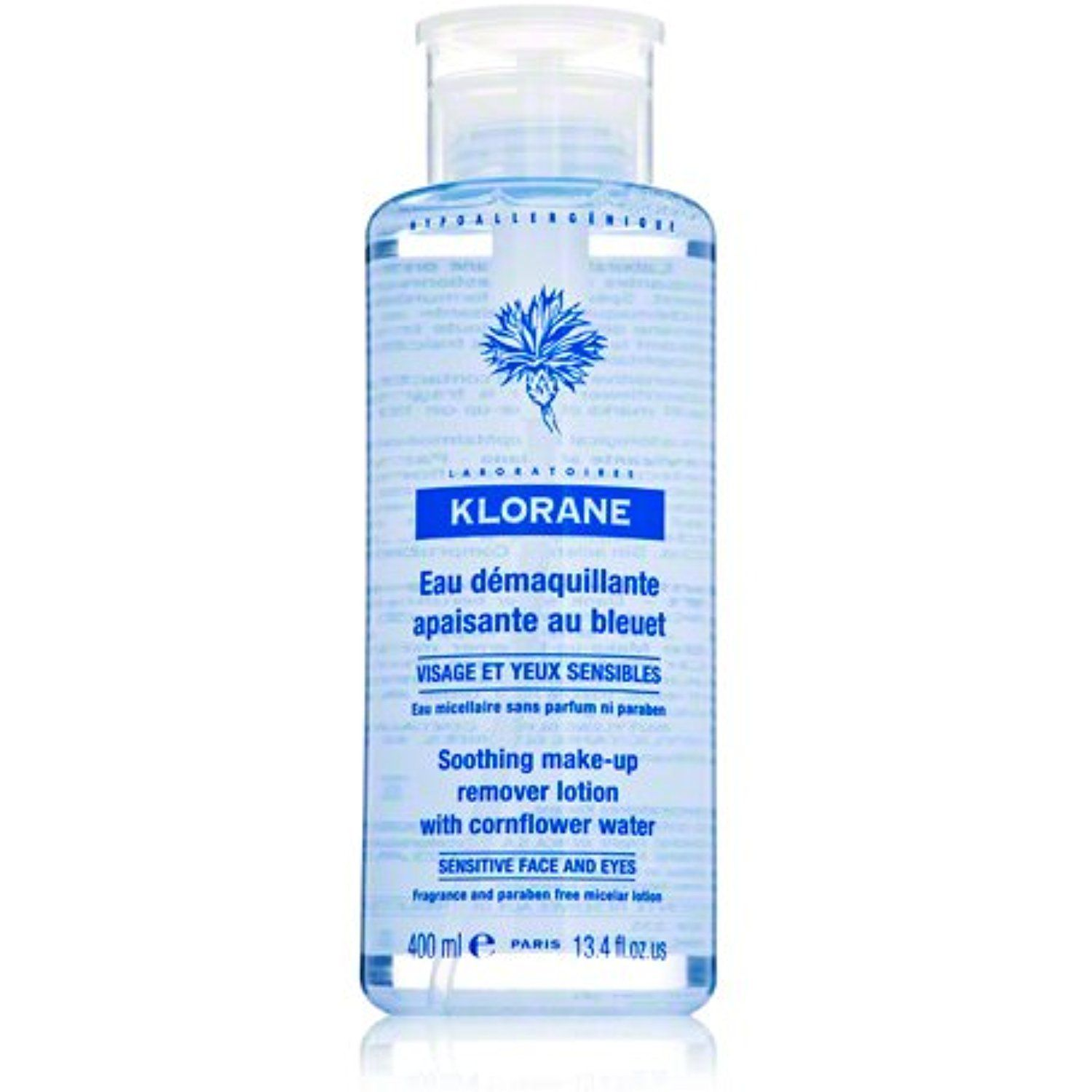 Klorane Soothing Makeup Remover with Cornflower, 13.4