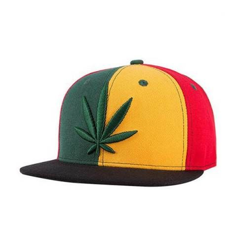 Reggae marijuana Embroidered snapback baseball cap for teens hip hop caps 6c90c993c466