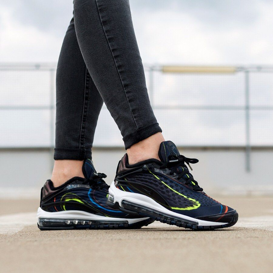3fbeb5e92b Nike Air Max Deluxe Black / Midnight Navy | Women's Sneakers ...