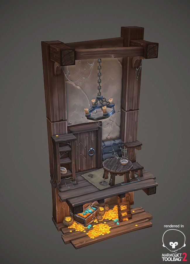 ArtStation - Hidden treasure diorama, Antonio Neves