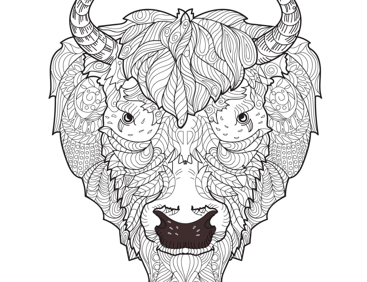 Adult Coloring Pages: Bison | Adult Coloring Pages | Pinterest ...
