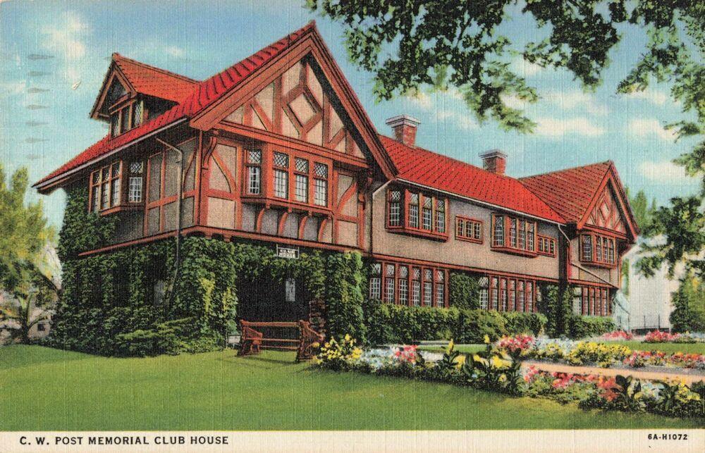 Postcard Cw Post Memorial Club House Michigan Club House Postcard Historic Homes