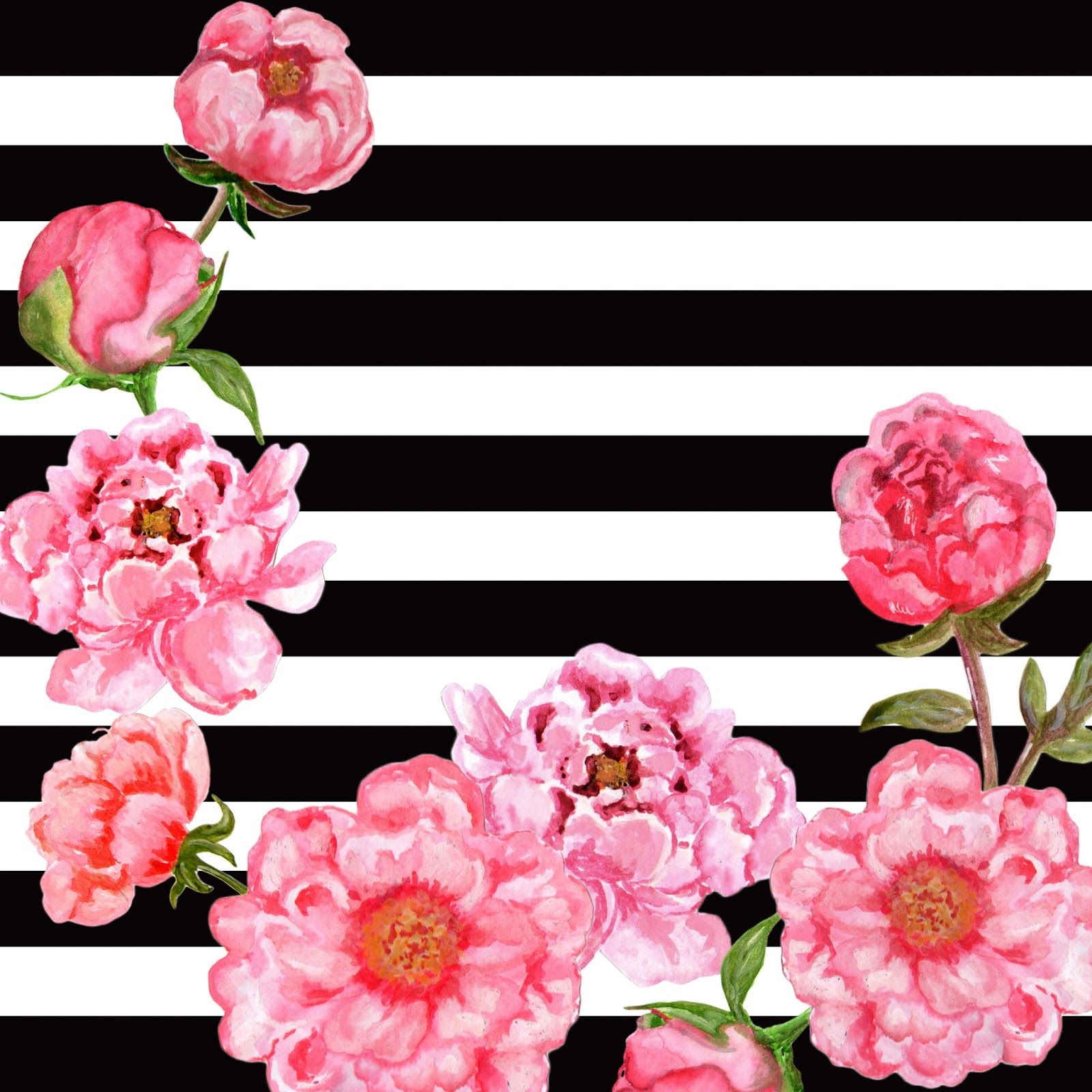 Free Black White Floral Background Patterns Free Background