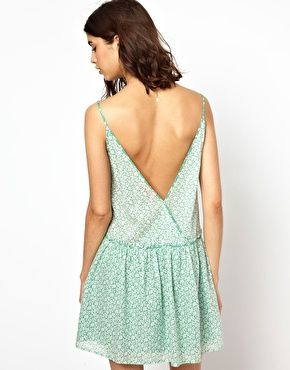 Image 1 of BA Low Back Sundress in Printed Cotton Fashion Textiles, Low Back , 4eff017f0eeb