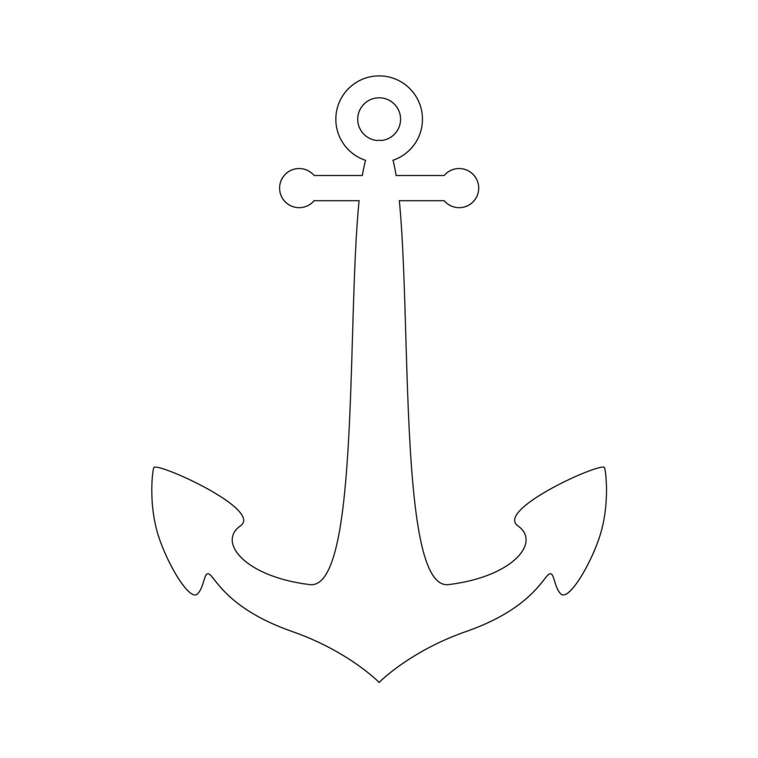picture regarding Printable Anchor Template called Anchor Stencil Totally free Printable Stencil Templates Wooden