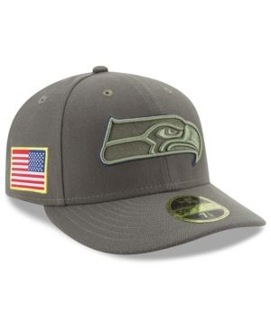 58167cf48e0 NEW ERA SEATTLE SEAHAWKS SALUTE TO SERVICE LOW PROFILE 59FIFTY FITTED CAP.   newera