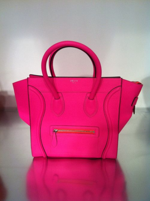 852bd42a2b Daily crave  Celine luggage tote in neon pink….