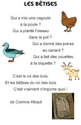 Poésie Le Roi Des Bois Comptines Comptine Maternelle Et