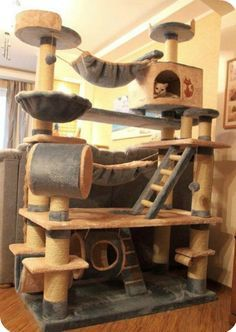 Casa Para Gatos Reciclada Pesquisa Google Arranhador Para