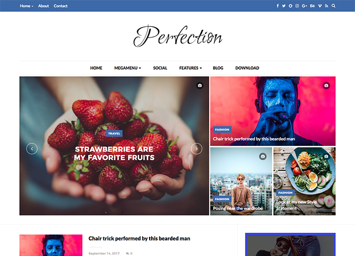 Perfection is a Premium Blogger Template best suited for sites that ...