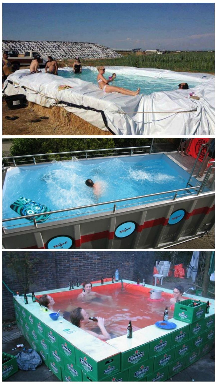 18 Cool Makeshift Pools Diy swimming pool, Diy pool
