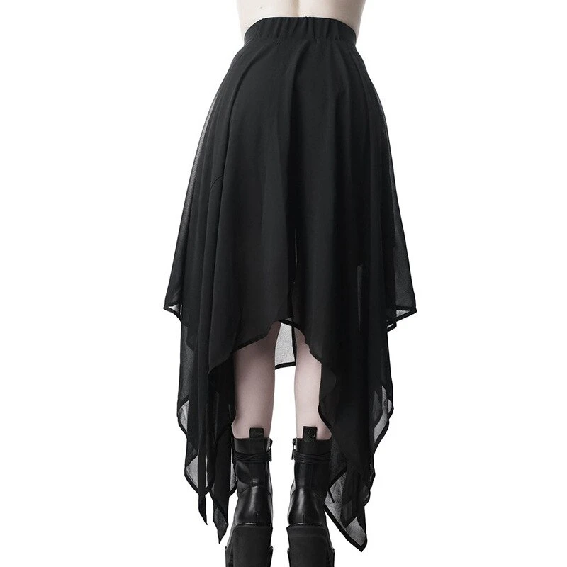 Punk Rave Myra Black Full Length Gothic Lace Skirt Gothic,Goth