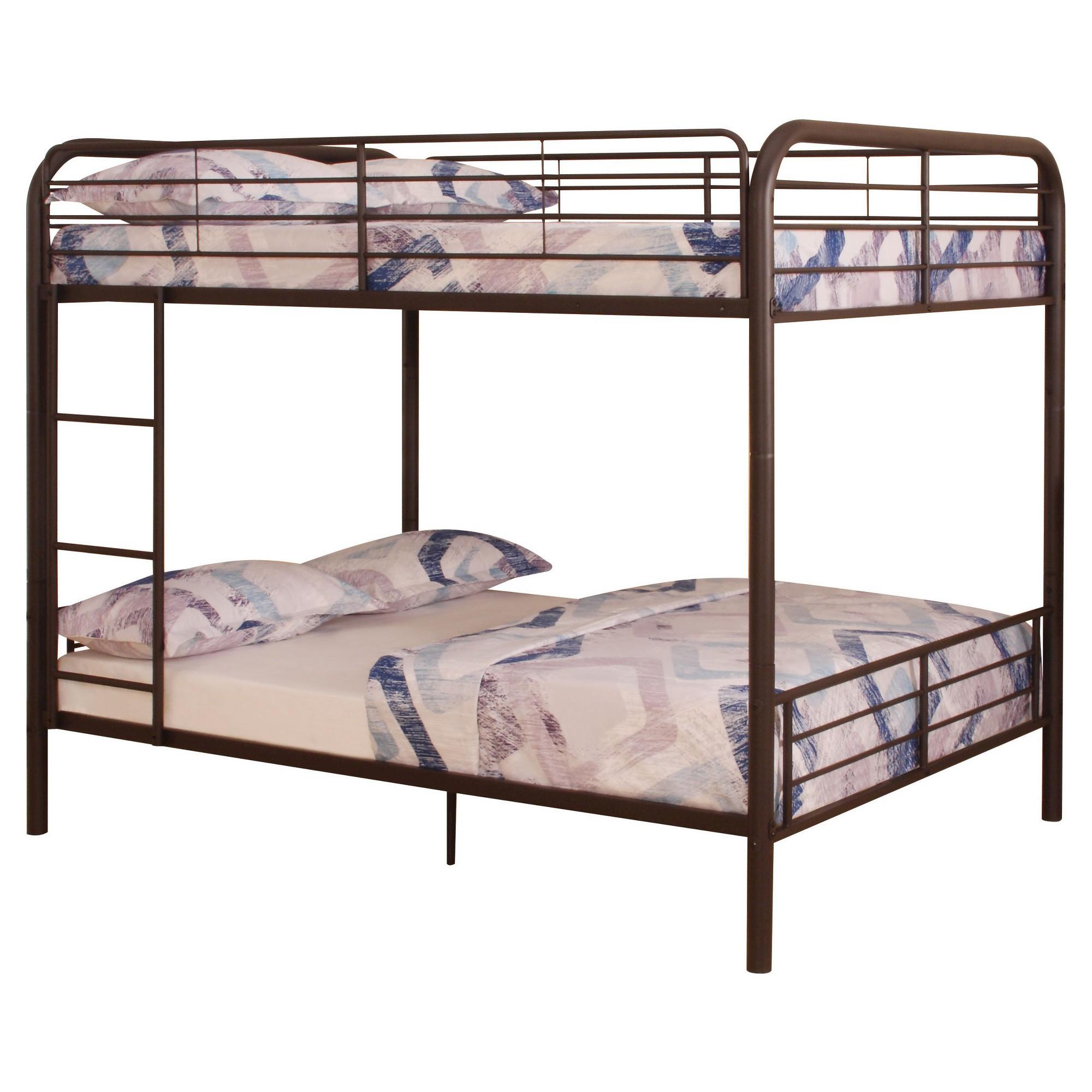 acme furniture bristol kids bunk bed dark brown full full acme