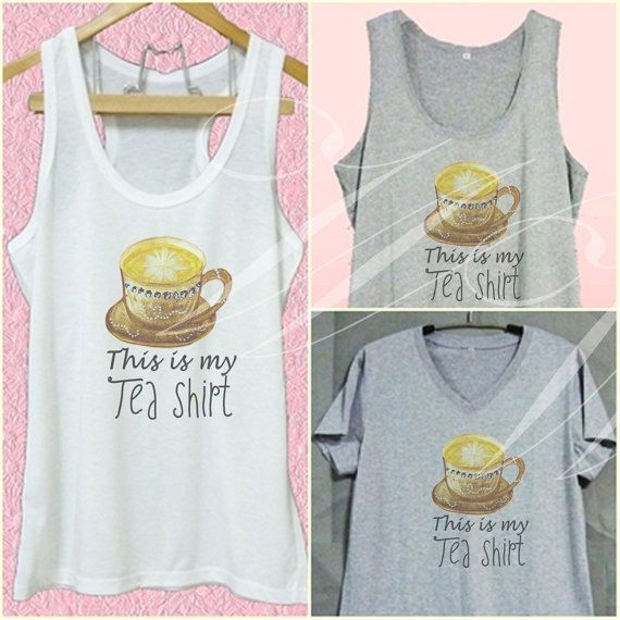 This is my Tea shirt white tank/grey dress/ v by WorkoutShirts
