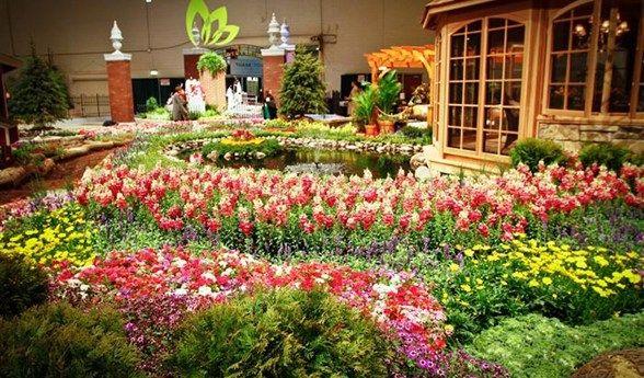 enjoyillinoiscom chicago flower garden show - Flower Garden Ideas Illinois