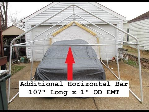 Harbor Freight Portable Garage Upgrade Reinforcing Tests Carport Portable Garage Diy Carport