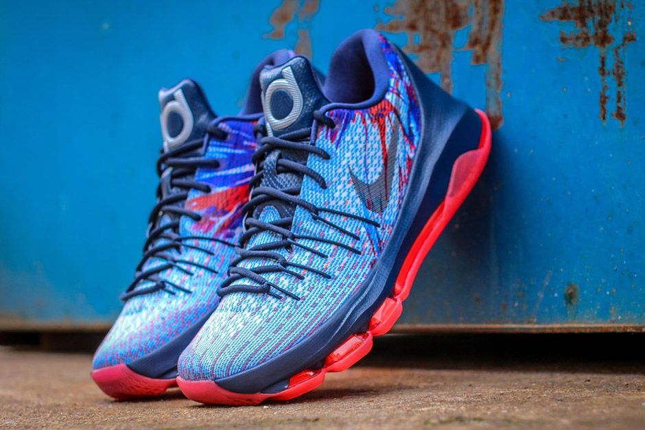 The new Nike KD 8 Basketball shoes prove once again that the sneaker  franchise is not only suitable for the courts but is also made for the  streets.