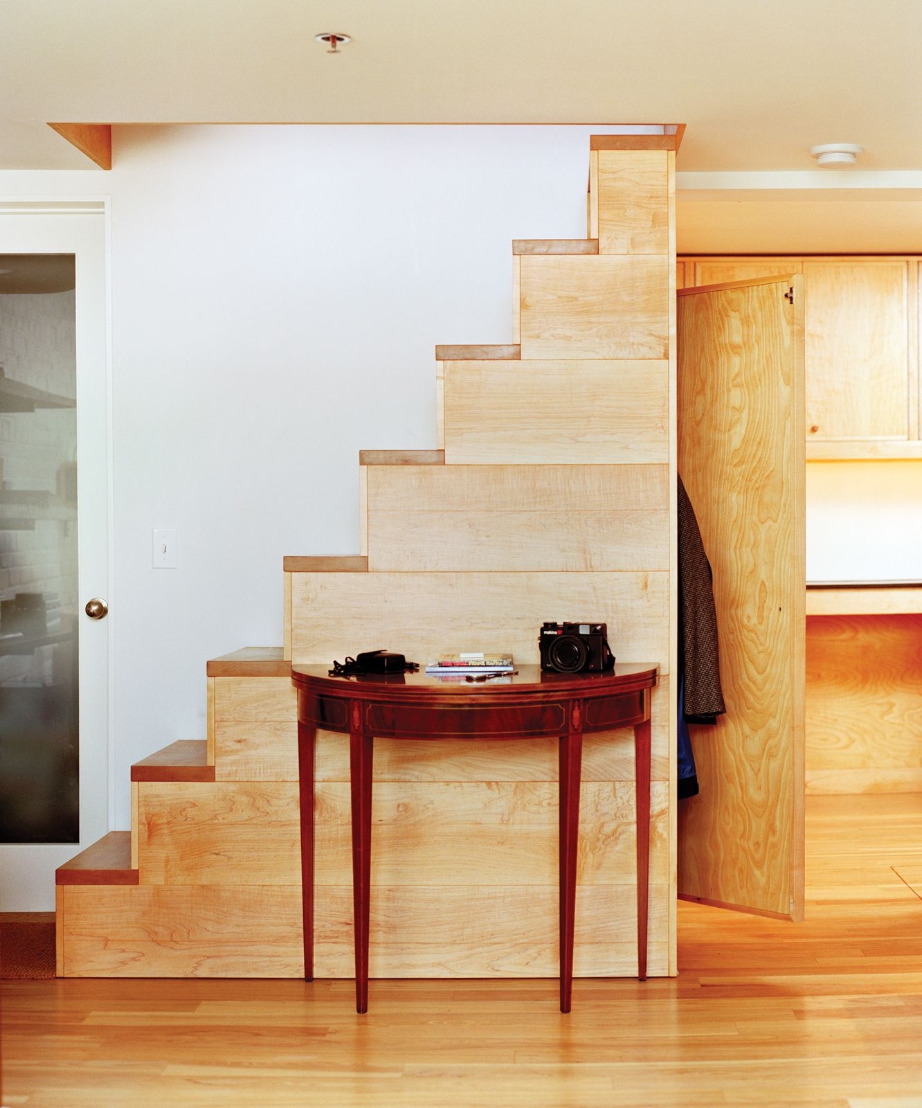 Custom Crafted Freestanding Wood Staircase By Eric Wolf