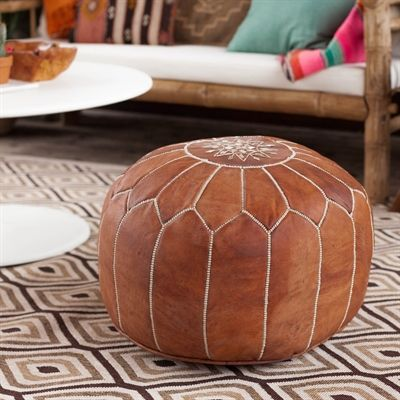 NuLOOM NUSAPOU40 NuLOOM Living Leather Moroccan Pouf Ottoman Dream Amazing Nuloom Moroccan Pouf