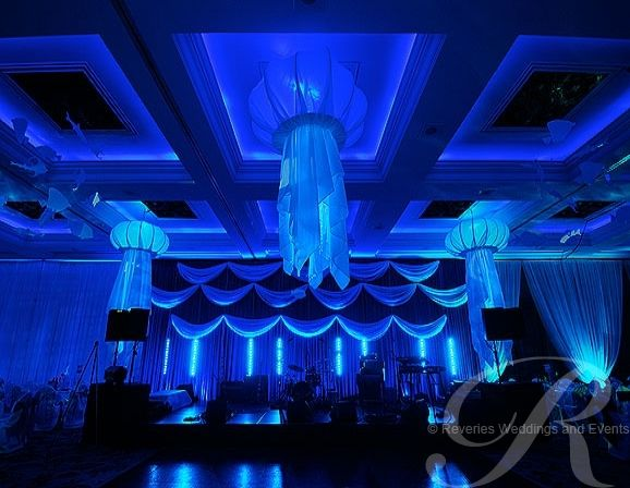 underwater themed events underwater party theme underwater themed draping underwater themed prop hire centrepieces london brighton bristol