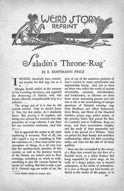 237c Weird Tales Jul-1938 Page 105 Saladin's Throne-Rug 01 by E. Hoffmann Price by California Cthulhu (Will Hart), via Flickr