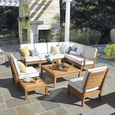 Teak Sectional Furniture   Calypso Collection   Country Casual