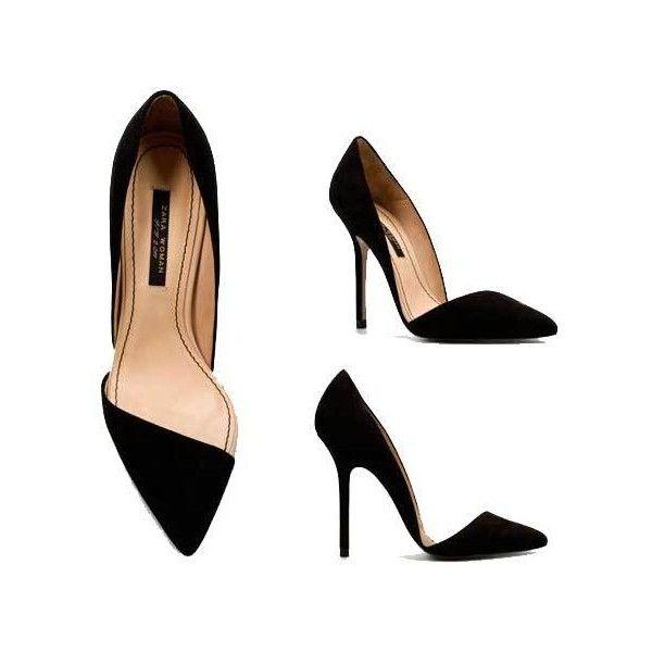 41df420e369 Zara Black Pointed Toe Court Shoes