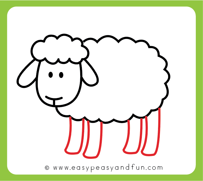 How To Draw A Sheep Step By Step Sheep Drawing Tutorial Sheep Drawing Drawing Tutorial Easy Animal Drawings