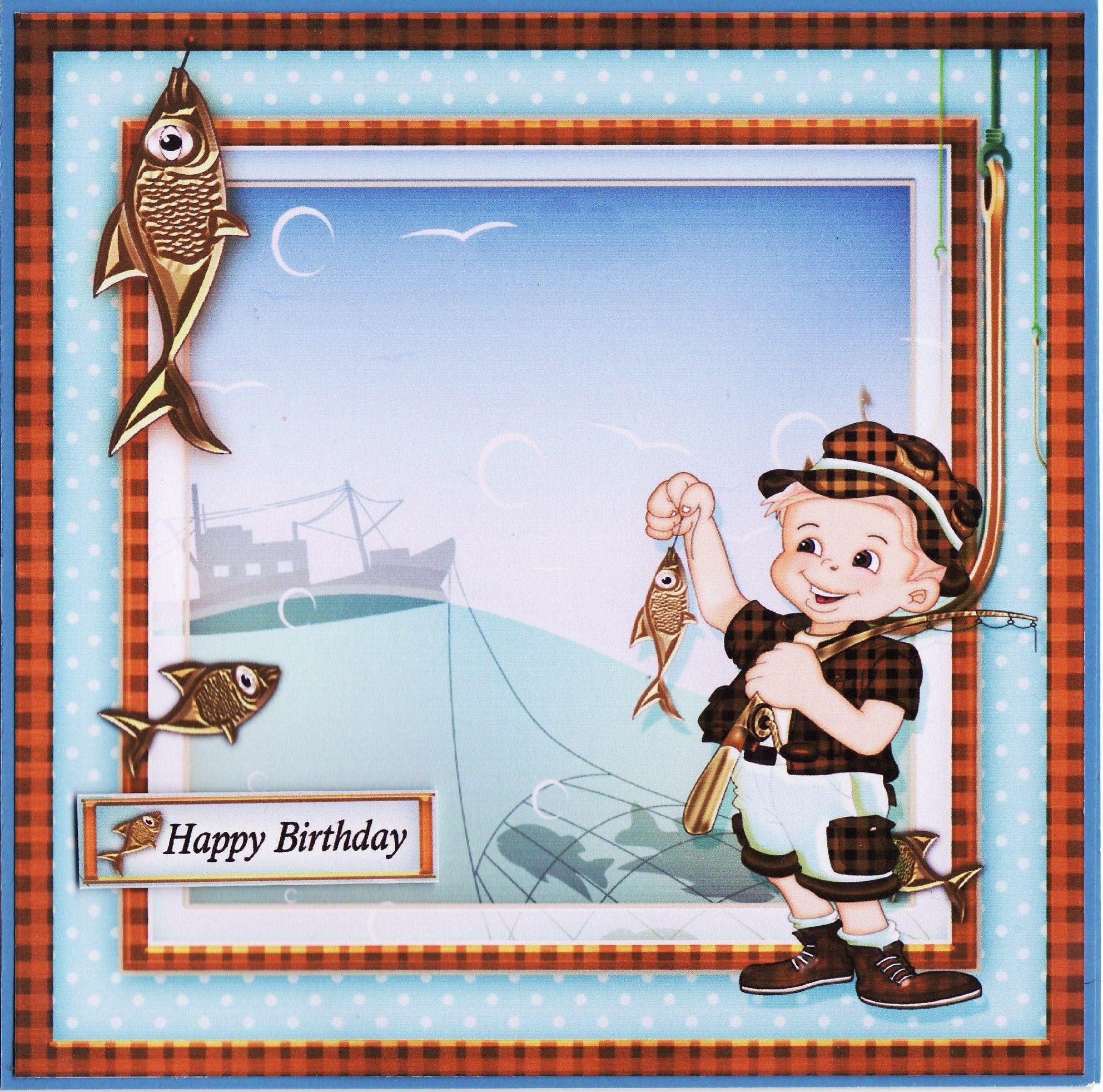 3d Fisherman Birthday Card By Tassie Scrapangel Tassie