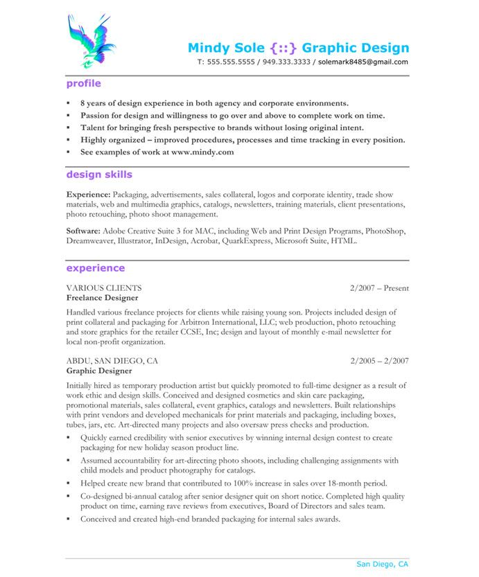 Web Designer Resume Samples Graphic Designerpage1  Designer Resume Samples  Pinterest