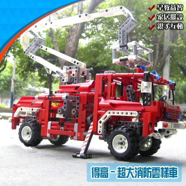 (Buy here: http://appdeal.ru/1gb1 ) Technic Exploiture Fire Engine Truck Building Blocks Decool 3323 Sets Model Educational DIY Bricks Toys For Children for just US $40.99