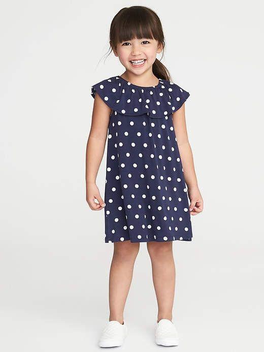 ff2d4e0e6ec5 Old Navy Ruffled Polka-Dot Jersey Dress for Toddler Girls   Niñas ...