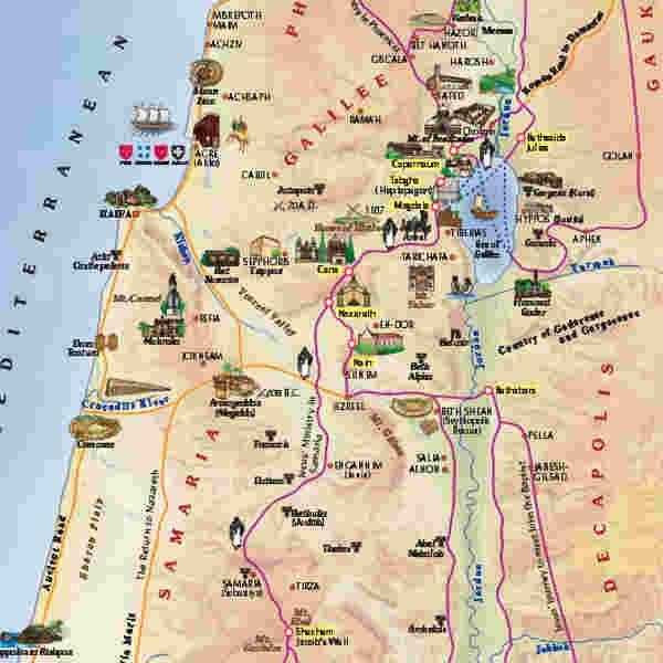 israel carte touristique