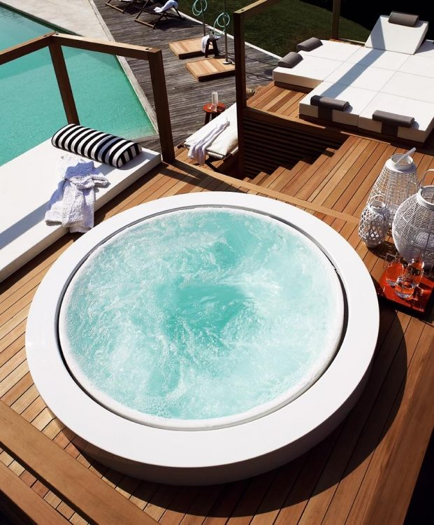 Zucchetti Kos hydromassage free standing mini-pool love my garden - whirlpool im garten selber bauen