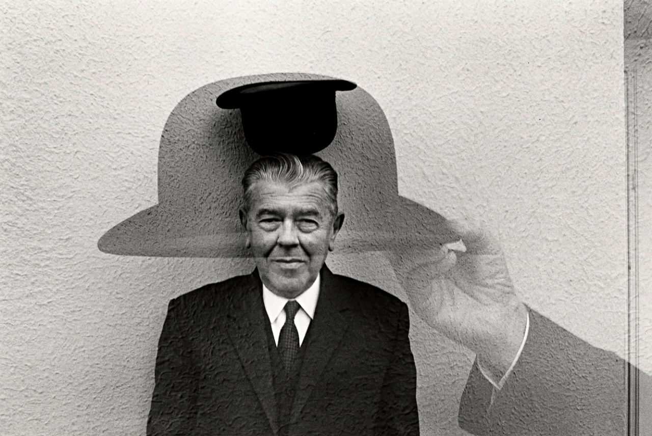 Artist Duane Michals Title Magritte And Hat Medium Silver Gelatin Print Date 1965 Duane Michals Rene Magritte Magritte
