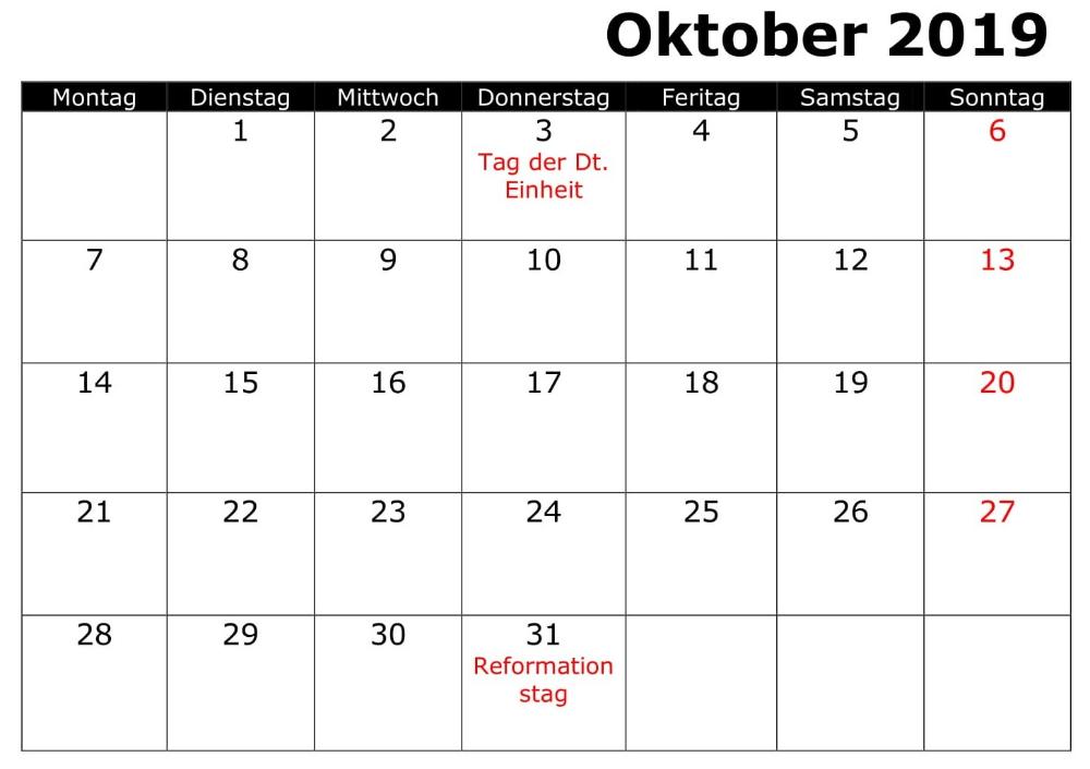 Pin Von Homesecurity Auf Kalender Oktober 2019 Kalender Oktober Kalender Oktober