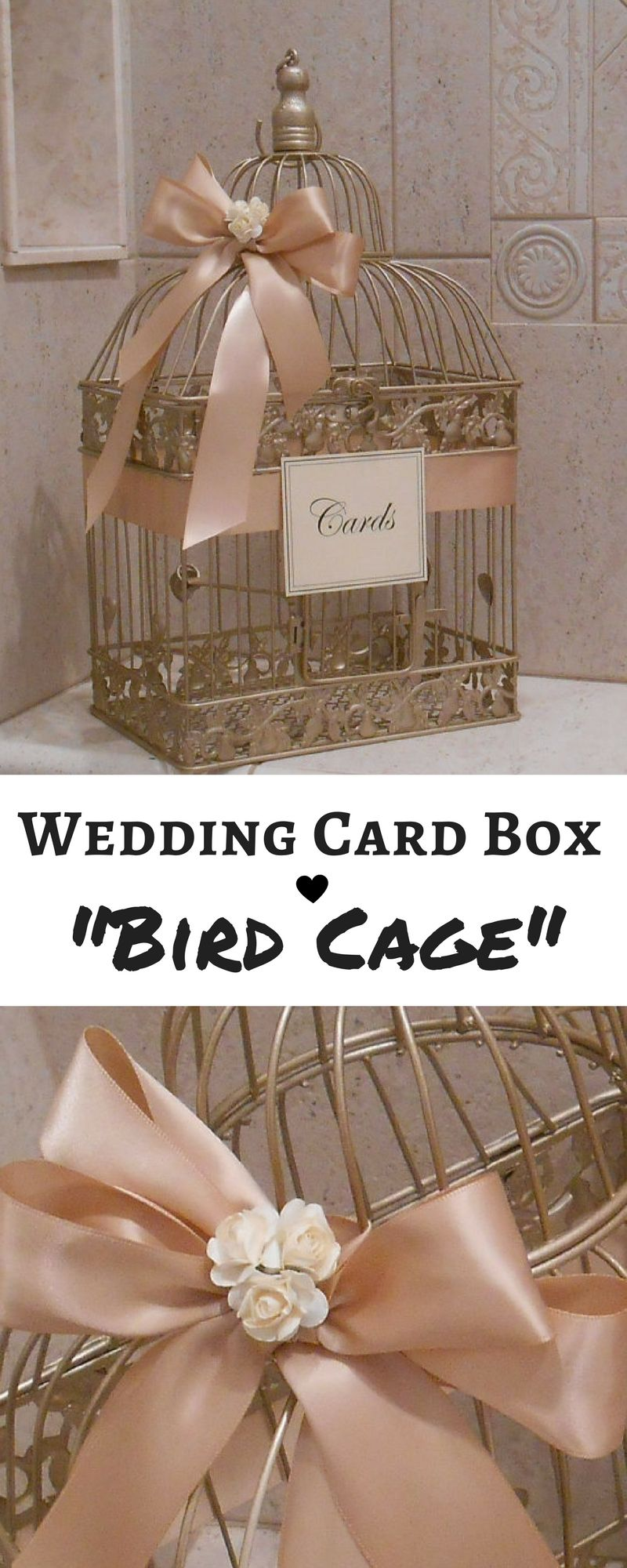 Champagne Gold And Blush Wedding Card Box Wedding Card Holder