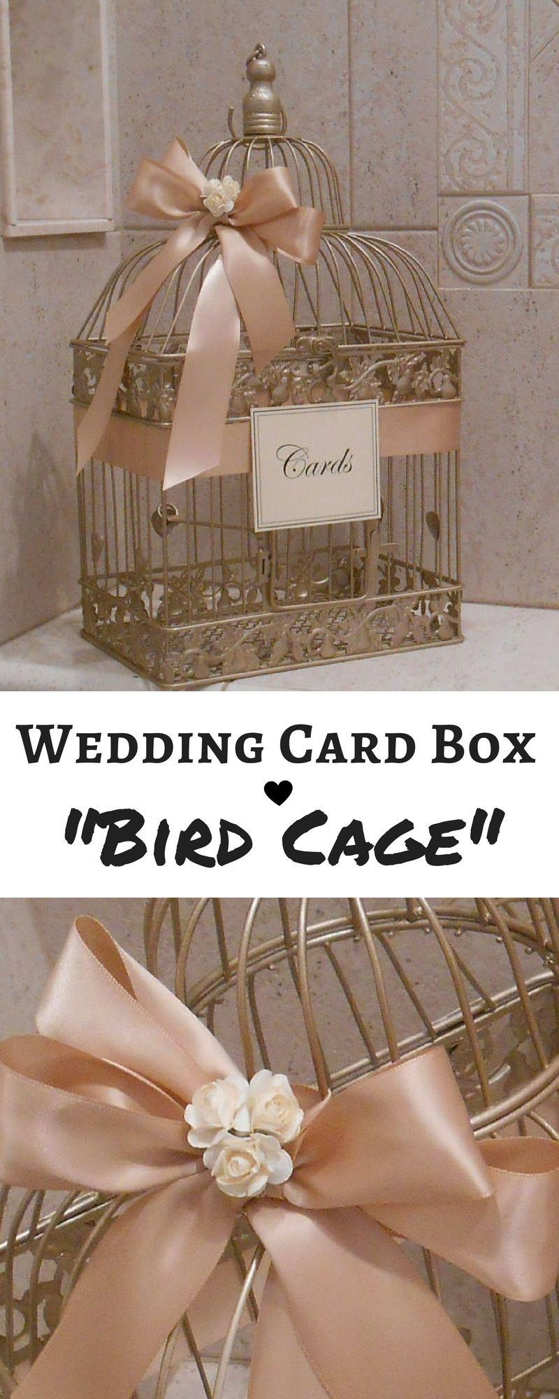 Champagne Gold And Blush Wedding Card Box Wedding Card Holder