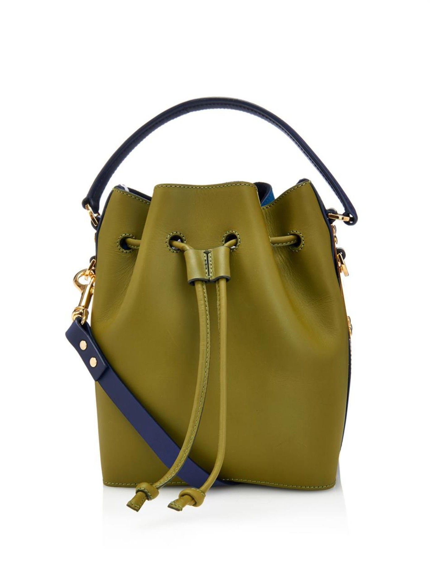 Drawstring leather bucket bag | Sophie Hulme | MATCHESFASHION.COM