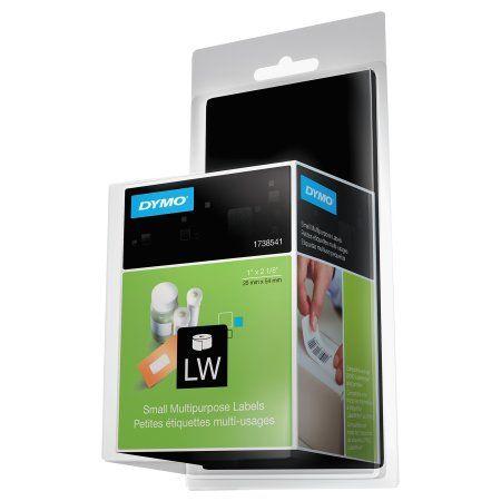 Dymo LabelWriter Multipurpose Labels, 1 x 2 1/8, White, 500
