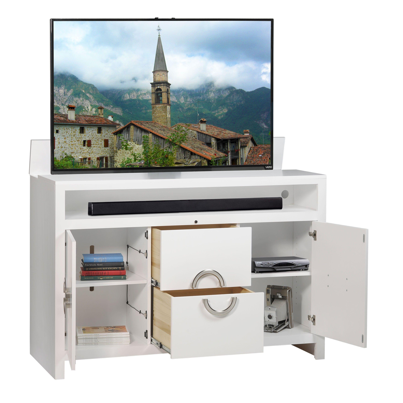 Enclave White TV Lift Cabinets housewares Pinterest