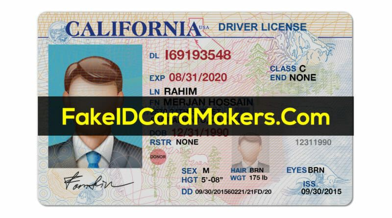 California Drivers License Template in 2020
