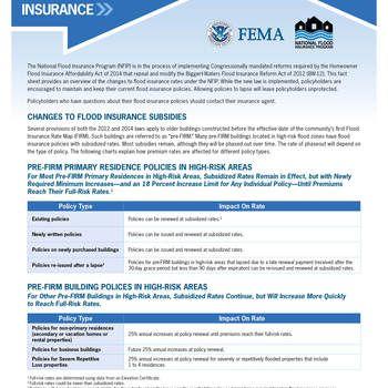 Homeowner Flood Insurance Affordability Act 13 Fema Gov