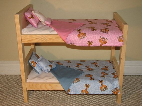 Bitty Twins Bedding American Doll Bunk Bed Set For Pink