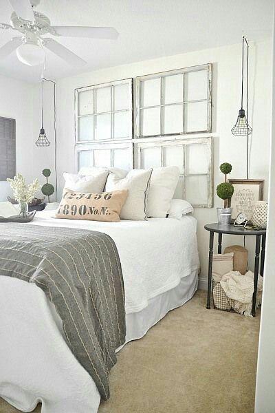 Farmhouse bedroom neutral bedroom Master Bedroom