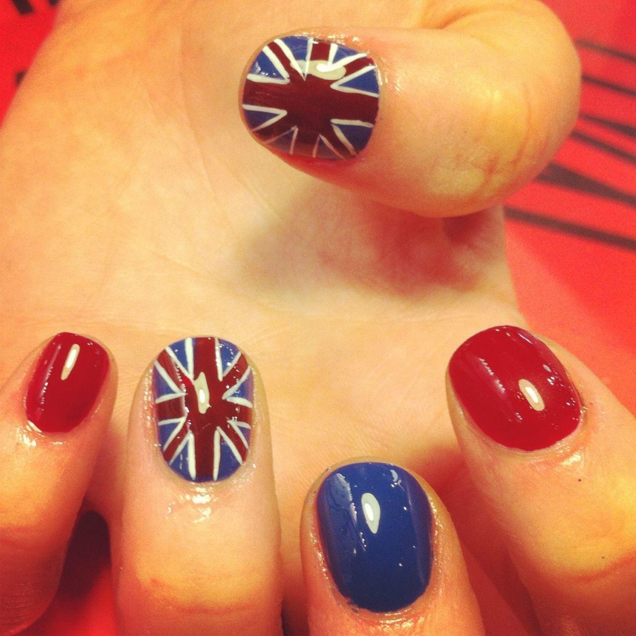 Union Jack | Nail Art | Pinterest | Union jack nails, Country nails ...