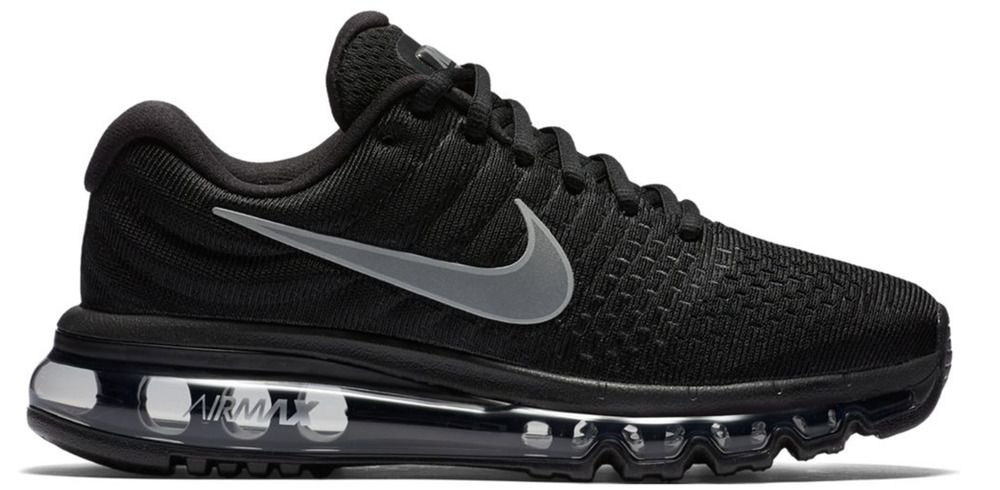 mens nike air max 2017 running shoes black/anthracite