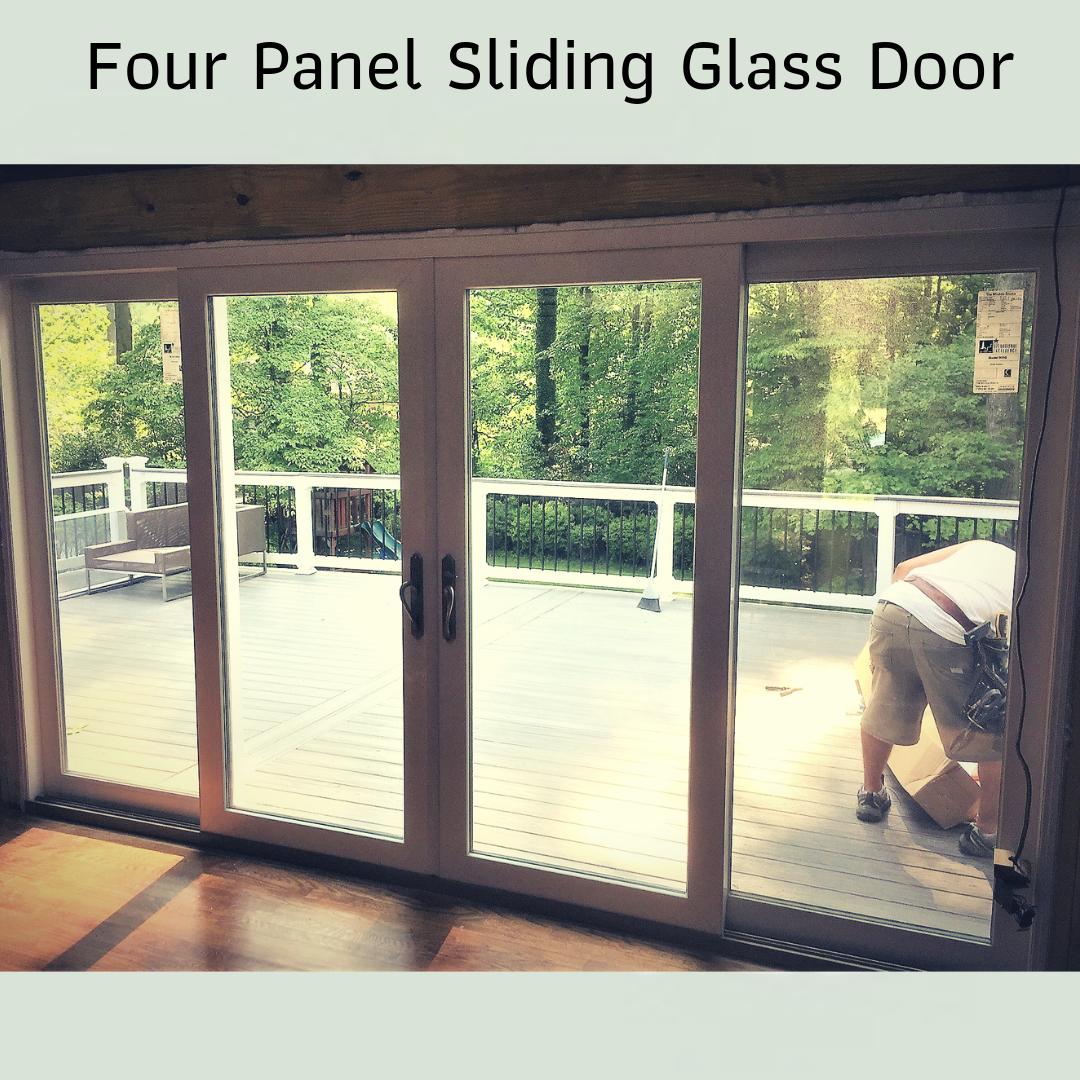 Window Source Of Virginia Recently Installed This Four Panel Slidingglassdoor In Northernva Providing The Homeow Sliding Glass Door Window Source Glass Door