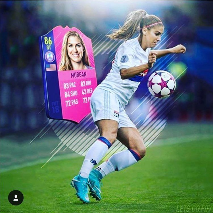 Alex Morgan, FIFA game stats graphic | AA Pro Women's Soccer
