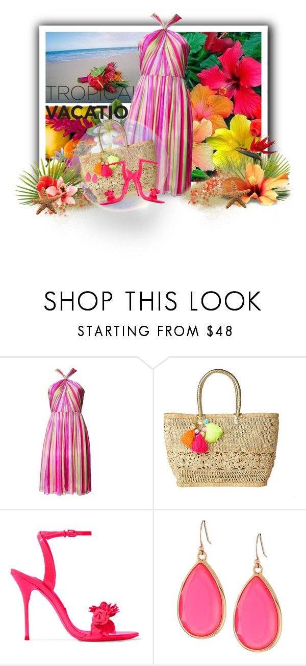 """""""Tropical Vacation"""" by loveroses123 ❤ liked on Polyvore featuring Matthew Williamson, Lilly Pulitzer, Sophia Webster and Kate Spade"""